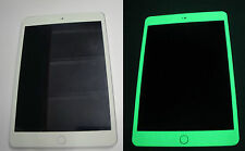 iPad Mini * Green * Glow in the Dark Decal Skin sticker  ( For Front Only )