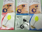 9 Packs fishing float stopper (size L,size M, size S. three packs each)