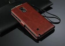 Samsung Galaxy Note 4 PU Leder Tasche Schutz Hülle Flip Case Handy Tasche