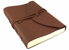 "LARGE Genuine Leather Journal Diary Sketchbook Notebook Vintage RUSTIC 9""x12"""