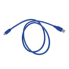 Blue Superspeed USB 3.0 Type A Male to Mini B 10 Pin Male Adapter Cable Cord AD