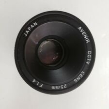 Japan Avenir CCTV Lens C-mount 25mm F1.4 1:1.4 25mm Lens good #806 XH