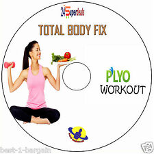 PLYO FITNESS WORKOUT DVD - lose fat weight fast burn calories excercise program