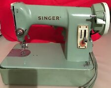 1950's Singer Sewing Machine green Model- 185J heavy duty industrial strength
