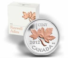 2012 Canada Gold Plated Silver Coin - Farewell to the Penny