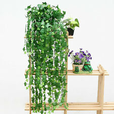 8.2feet Green Artificial Ivy Leave Garland Plants Vine Fake Foliage Flowers Home