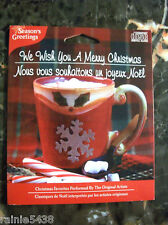 Season's Greetings We Wish You A Merry Christmas CD Holiday Favorites Music
