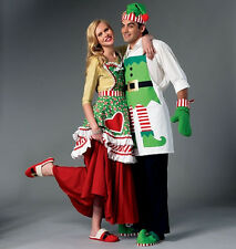 SEWING PATTERN! MAKE CHRISTMAS MEN~WOMEN APRON~SLIPPERS~OVEN MITTS~DECORATIONS!