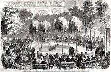 GENOVA: Ufficiali Francesi al Caffè La Concordia.Risorgimento.Stampa Antica.1859
