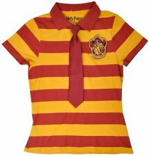 Gryffindor Polo Shirt Tie Harry Potter Uniform Yellow Red Women Authentic Small