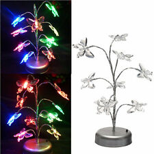 USB LED Tree Night Lamp Colorful Butterfly  Table Light for Home Decorations