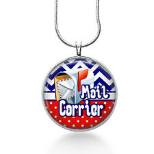 Mail Carrier Jewelry, Mail Man pendant, Post Man Necklace, pendant jewelry