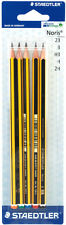 STAEDTLER NORIS HIGH QUALITY PENCILS SET OF 5 GRADES / DEGREES 2B B HB H 2H