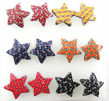 fashion vintage Wholesale lots 6 pairs bowknot colorful earrings stud jewelry