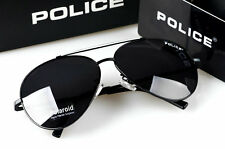 2016 Pure  Men's  Police Sunglasses Driving Glasses White frame Black lenses