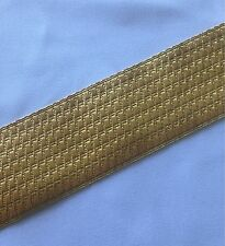 "Gold Mylar B&S Lace, Bias, 2"", 5cm, Army, Braid, Military, Uniform, Braid"