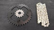 POLARIS PREDATOR 500 SPROCKET & NAT. O-RING CHAIN SET 14/37  2003 - 2004  blk