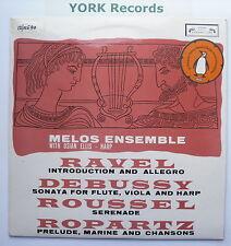SOL 60048 - RAVEL / DEBUSSY / ROUSSEL / ROPARTZ - MELOS ENSEMBLE - Ex LP Record