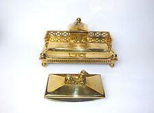 Bronze Encrier & Tampon buvard à bascule À 1900 GUSUM