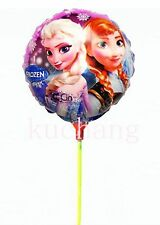 15 x small size FROZEN ANNA ELSA foil balloons with stick Only 67p each!!!!