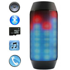 Wireless Bluetooth Subwoofer Speaker Handsfree Bass  With Colorful LED Light NE