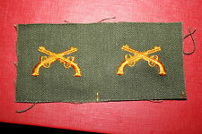 WW2 - KOREA US ARMY MP MILITARY POLICE CLOTH OFFICER'S COLLAR BADGES COLOUR