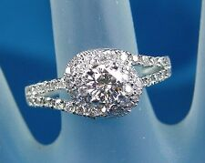 1.41 CT Total Weight Genuine Diamond Ring - EGL Cert - 14KT White Gold