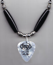 Styx Tommy Shaw Signature White Pearl Guitar Pick Necklace - 2007 Tour