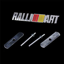 1 X New Metal MITSUBISHI Car RALLI ART Logo Front Grill Grille Emblem for LANCER