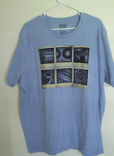 Old Navy Music Prints  Blue Crew Neck Short Sleeve T-SHIRT Size XXL