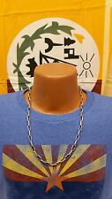 """Native American Handmade Navajo Chain Necklace - Stamped - 24"""" - Sterling Silver"""