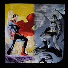 Superman Batman T-Shirt Large DC Comics Jim Lee Art Worlds Finest Justice League