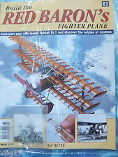 BUILD THE RED BARON'S FIGHTER PLANE FOKKER DR1  HACHETTE  ISSUE 61  NEW SEALED