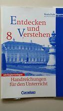 Entdecken und Verstehen 8 Realschule Bayern Lehrerbuch Handreichungen NEU