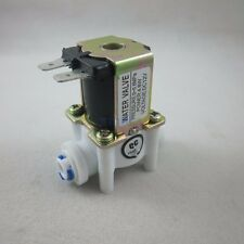 "DC 12V 1/4"" Inlet Feed Water Solenoid Valve Quick Connect N/C normally Closed"