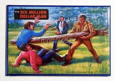 "Vintage SIX MILLION DOLLAR MAN TV SHOW Lunchbox 2"" x 3"" Fridge MAGNET Art side B"