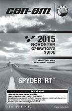 Can-Am Owners Manual 2015 SPYDER RT