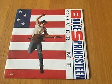 """BRUCE SPRINGSTEEN - COVER ME - 1984 7"""" P/S A1/B1 FIRST PRESSING NM PAPER LABELS"""