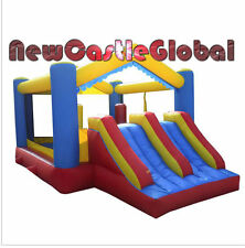 inflatable castle dual slide bounce bouncy house climbing obstacles course
