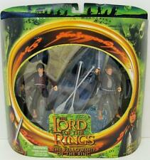 FELLOWSHIP OF THE RINGS~FRODO BAGGINS & SAMWISE GAMGEE WITH ELVEN BOAT ACCESSORY