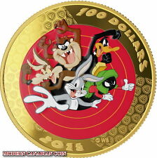 2015 CANADA GOLD COIN 14KT LOONEY TUNES AND A POCKET WATCH!