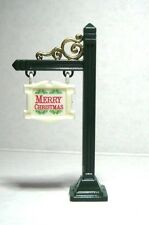 "Dollhouse Miniature ""Merry Christmas"" Sign and Post"