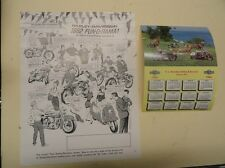 "HARLEY-DAVIDSON ""NEW OLD STOCK"" 1962 ADVERTISING CALENDER & FLYER"