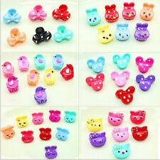 20pcs Mixed Kids Girls Snap Animal Flower Hair Claw Clips Charm Candy Accessory