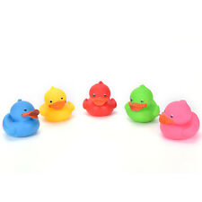 Colorful Mini Bathtime Rubber Duck Bath Squeaky Water Play Fun Kids NIUK