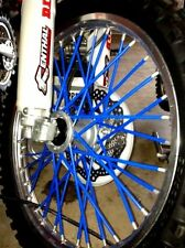 (BLUE) BYKAS SPOKE WRAPS DIRTBIKE SKINS COATS COLORS cr yz kx crf sx ktm honda