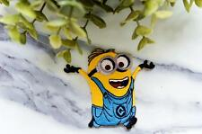 MINION 1 Blue Cartoon Movie Iron On Transfers Patches Craft Motif SEW Patch Pin