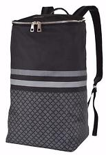 New Gucci 365284 Black Grey Nylon DIAMANTE XL Tall Travel Rucksack Backpack