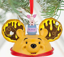 Disney Winnie Pooh Piglet Mouse Ears Hat Ornament Christmas Tree Theme Park New