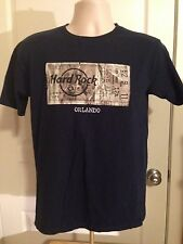 VINTAGE HARD ROCK CAFE ORLANDO NAVY BLUE T SHIRT SMALL